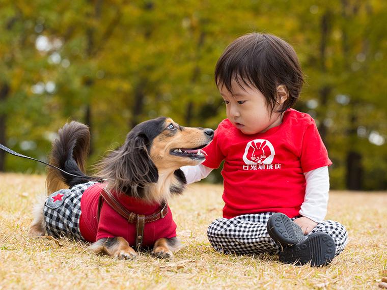 出張撮影 ご家族一緒ロングプラン 犬と子供(東京23区内)
